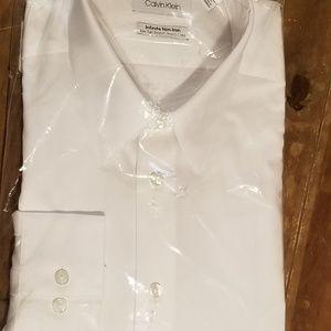 Calvin Klein Mens Infinite Slim Tall Dress Shirt
